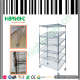 Wire Mesh Rack Trolley for Bread Store