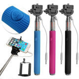 Extendable Wired Selfie Pole Stick Remote Shutter Monopod for Smartphones
