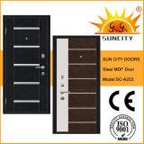 Steel Wooden Armor Door with Aluminium Strips