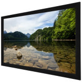 Uhd Wall Mount Fixed Frame Projection/Projector Screen with Aluminum Housing