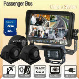 Passenger Bus Quad DVR Rearview System with CCD Cameras