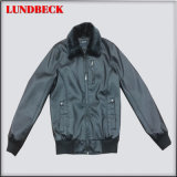 Black PU Jacket for Men with Fashion Style