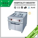 2 Tanks Electric Fryer (2 Baskets) with Cabinet