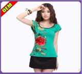Fashion Sexy Printed T-Shirt for Women (W201)