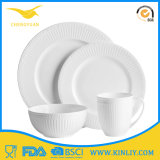 New Design Melamine Dinner White Tableware Hotel Kitchenware