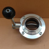 316 Stainless Steel Weld End Butterfly Valve with Pull Handle