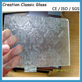 3-12mm Figure Acid Etched Glass /Pattern Glass for Building Decorate