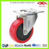 Red PU Castor Wheel (P104-26E100X30)