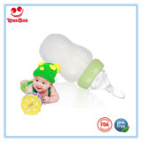 Customized Silicone Milk Bottle with Soft Anti Scald Spoon