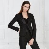 Women Black Long Pants Suits Office Formal Wear