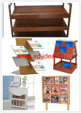 Wooden Literature Rack/Display Stand for Book, Literature (WR-2142)