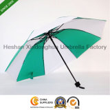 Green and White Manual Rain Folding Umbrella for Promotion (FU-3821J)