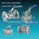 Threaded Flange 3PC Ball Valve CF8m 1000 Wog