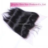 Straight Middle Part Peruvian Virgin Hair Lace Frontal