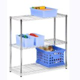 Adjustable DIY Metal Wire Mesh Shelving for Office