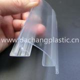Clear PVC Supermarket Display Data Strip
