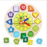 Wooden Intellectual Puzzle Toys Clock 3D