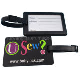 Embossed Logo Soft PVC Luggage Tag for Promotion (LT018)