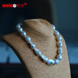 15-17mm Large Baroque Nucleated Cultured Freshwater Pearl Necklace Jewelry (E130085)