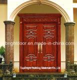 Exterior Main Door Carved Solid Wood Double Door Designs System