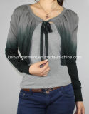Women Knitted V Neck Long Sleeve Fashion Clothes (12AW-093)
