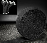 2in 50 Ft Exhaust Heat Wrap, Universal Type, Glass Fiber Material, Turbo Heat Wrap Black Free Stainless Steel Cable Ties Insulating Heat Tape Downpipe Manif