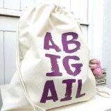Portable Drawstring Cotton Bag with Printed