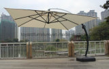 Best 10 FT Square Aluminum Offset Cantilever Umbrella, Outdoor Hanging Umbrella with 360 Degree Rotation and Vertical Tilt, 250 GSM UV-Resistant Polyester, Tan