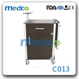 New Material Hospital Bed Side Cabinet with Over Bed Table