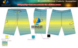 Shadow Polyester 2 Ways Stretch Printing Fabric for Shirt/Beachwear
