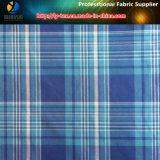 100% Polyester Yarn Dyed Shirting Fabric in Peach for Garment (YD1112)