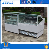 Straight Glass Ice Cream Showcase for Sale/Scooping Display Cabinet