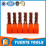 HRC 55 Solid Carbide End Milling Cutter 4 Flutes