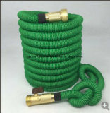 Quality Source Products Double Latex Core Fabric Expandable Garden Hose, Platinum, 25-Feet