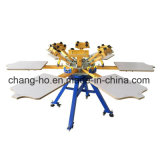 6 Color Garment Screen Printing Press