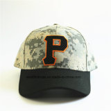 Top Quality Wholesale 100% Cotton Camo Baseball Cap with Embroidered Letter