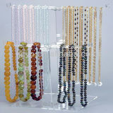 Acrylic Linen Jewelry Necklace Bust Displays