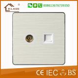Switch Manufacturer Good Design TV and Tel Socket Outlet