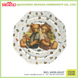 Lovely Bear Print Kids Use Melamine Cookie Plate