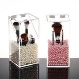 Clear Dustproof Plexiglass Cosmetic Storage Box/Acrylic Makeup Brush Holder Box