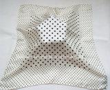 Classical Black Dots Printing Silk Foulard with High Quality (HWBS003)