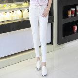Acrylic Pencil Denim Lady′s Jeans with Stretch