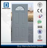 Half Moon Glass 4 Panel Steel Door