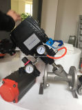 Flanged Pneumatic Angle Seat Valve with Positioner Yt1000L