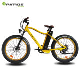 26′′ 4.0 Fat Tire Electric Mountain Bike with Front Suspension Fork
