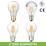 90ra Dimmable 2700k LED Filament Bulb with UL (A19)