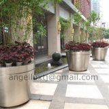 Custom Outdoor Decoration Large Stainless Steel Flower Vase