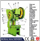 J23-63t Open-Type Tilting Power Press, Sheet Plate Hole Punching Machine, C Frame Power Press Metal