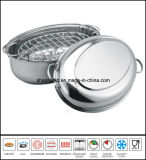 Stainless Steel Oval Turkey Roaster Chicken Roasting Pan Cookware