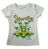 Beautiful Girl T-Shrit with Tree in Children Clothing Sgt-054